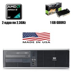 HP Compaq DC5750 SFF : AMD Athlon X2 4400 2x2.3GHz / 4 GB DDR2 / 250 GB HDD / nVidia GeForce GT 730