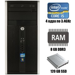 HP Compaq Pro 6300 Tower : Intel Core i5-2400 4x3.4GHz / 8 GB DDR3 / 120 GB SSD