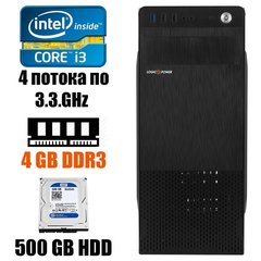 LogicPower Black Tower : Intel Core i3-2120 2(4)x3.3GHz / 4GB DDR3 / 500GB HDD