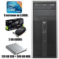 HP Compaq Pro 6300 Tower : Intel Core i7-2600 4(8)x3.8GHz / 8 GB DDR3 / 120 GB SSD + 500 GB HDD / GeForce GTX 1050