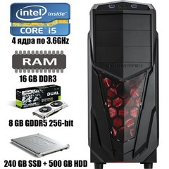 Xigmatech MACH : Intel Core i5-4570 4x3.6GHz / 16 GB DDR3 / 240 GB SSD + 500 GB HDD / GeForce GTX 1070 / 600W