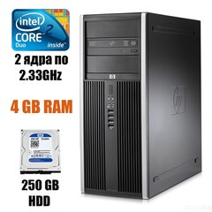 HP Compaq  dc7900 Tower : Intel Core 2 Duo E6550 2x2.93GHz / 4 GB DDR2 / 250 GB HDD