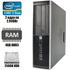 HP Compaq 6000 Pro MT : Intel Core 2 Duo E7500 2x2.93GHz / 4 GB DDR3 / 160 GB HDD
