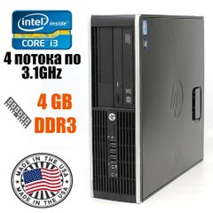 HP Compaq 8200 Ellite SFF : Intel Core i3-2100 2(4)x3.1GHz / 4 GB DDR3 / 250 GB HDD