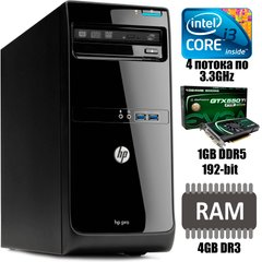 HP Pro 3500 MT : Intel Core i3-3220 2(4)x3.3GHz / 4 GB DDR3 / 250 GB HDD / nVidia GeForce GTX 550Ti