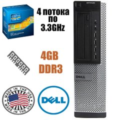 DELL Optiplex 790 Desktop : Intel Core i3-2120 2(4)x3.3GHz / 4GB DDR3 / 250GB HDD